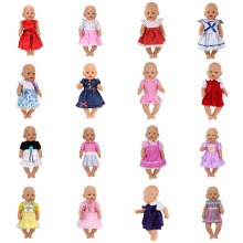 Doll Dress Fit For 43cm Baby Born Zapf Doll Reborn Babies Clothes And 17inch Doll Accessories(China)