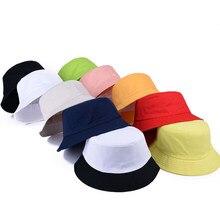 Jalea de Corea color sólido cubo sombreros para hombres Panamá mujeres  sombrero pescador Street DIY portátil 3d2051733d7