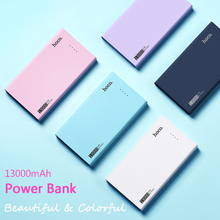 HOCO 13000mAh Power Bank portable Candy color charger LED indication 2.1A for all mobile phones, tablet PC for outdoors/camping(China)