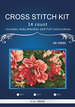 Free delivery Top Quality Lovely Counted Cross Stitch Kit Coral Peonies Peony Pink Flower Flowers dim 70-35298 35298 HH-30095