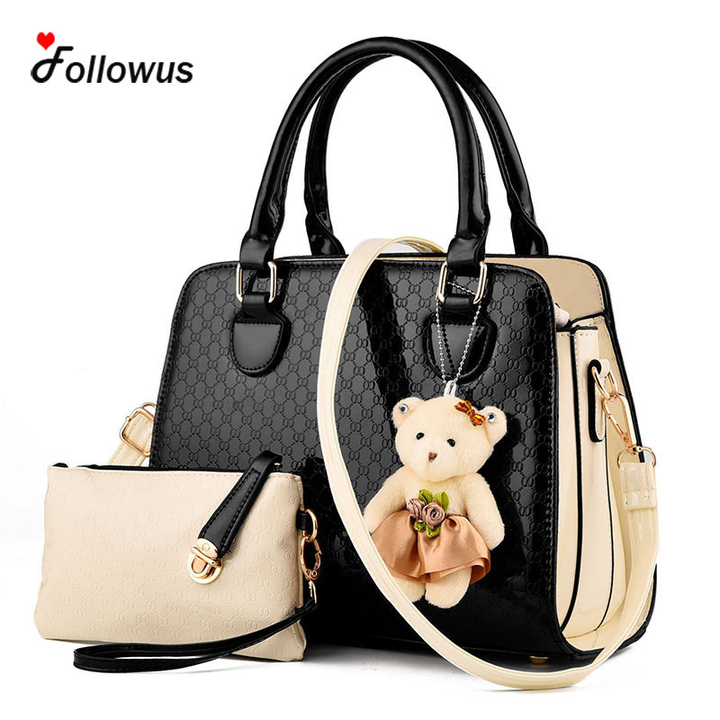 7 Colors Two Piece Women Composite Shoulder Bags 2016 New Fashion PU Leather Casual High Capacity Women Tote Handbag<br><br>Aliexpress