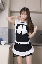100% cotton Cute Retro kitchen apron for woman Cooking Cleaning Maid Costume Girls Waitress Apron for Gift Cosplay Costume
