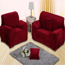 Suede Fabric Stretch Sofa Cover Combination Kit Sectional Slipcovers Couch Covers Furniture Cover On The Sofa And Armchairs A76(China)