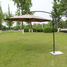 2.7 meter steel iron promotion patio sun umbrella garden parasol sunshade outdoor furniture covers ( no stone base )(China)