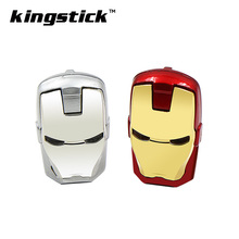 Kingstick USB Flash Drive 64GB 32GB USB stick golden silver Pen Drive Iron Man pendrive 16GB 8GB 4GB Flash Memory Stick U disk(China)