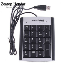 1Pcs USB 19 Keys Mini Number Keypad Numeric Adapter Keyboard For Notebook Laptop Mac Connector(China)