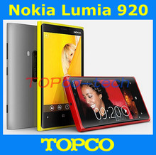 "Original Nokia Lumia 920 windows OS Unlocked phone Dual Core 4.5"" with WIFI GPS 32GB 8MP camera Free Shipping(China)"