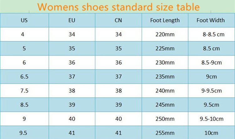 women size _