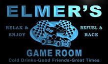 x0218-tm Elmer's Pit Stop Game Room Custom Personalized Name Neon Sign Wholesale Dropshipping On/Off Switch 7 Colors DHL