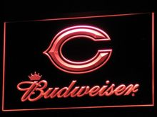b271 Chicago Bears Budweiser Bar LED Neon Sign with On/Off Switch 7 Colors 4 Sizes to choose(China)