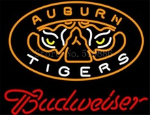 "NEON SIGN For NCAA College Basketball Auburn Tigers Budweiser GLASS Tube BEER BAR PUB store display Shop Light Bulb Signs 19*15""(China)"