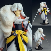 23cm Japanese Anime Character Inuyasha Action Figure Sesshoumaru 1/8 Scale PVC Model Decoration White Clothes Ver Doll Brand New(China)