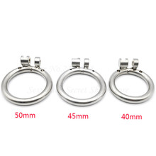 Buy 3 Size Choose Male Chastity Device Accessories Cock Cages Additional Spares Base Arc Ring,Stainless Steel Penis Rings Men