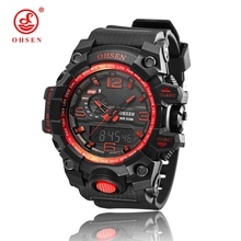 2016 NEW OHSEN Newest good quality Quartz watch,Waterproof Outdoor watches sport watch digital chronograph watch for men