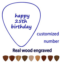 Personalized Happy Birthday Guitar Pick Gift For Boyfriend Rock Star Gift Mens Husband Plectrum Engraved Pick Under 9.9 Dollars(China)