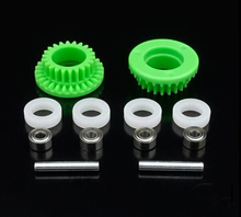 Buy 1Set 15349 Counter Gear Green+15357 White Circle Ring+Double 520 Bearing 3.5:1 DIY Tamiya Mini 4WD RC Car Model Spare Parts for $9.56 in AliExpress store