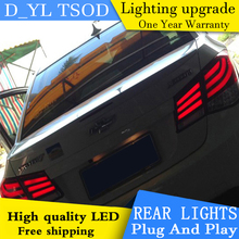 D_YL Car Styling for Chevrolet Cruze Taillights 5-Series Design Cruze LED Tail Lamp Rear Lamp DRL+Brake+Park+Signal led light(China)
