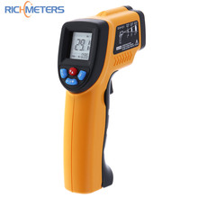 RICHMETERS GM320 Infrared Thermoneter IR Laser Temperature Gun Non-Contact Laser Thermometer -50~380 Degrees Celsius