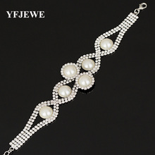 Buy YFJEWE Fashion New Design Luxurious sliver Plated Charm Crystal Cubic Pearl Bracelet Women Jewelry Wedding Accessories B073 for $2.35 in AliExpress store