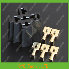 10pcs Car/Automobile Relay Sockets with Copper Terminals,Flame Retardant , Resistance to High Temperature