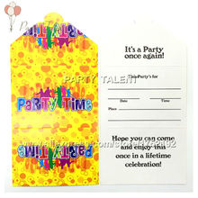 Party supplies 10PCS music party decoration paper invitation card