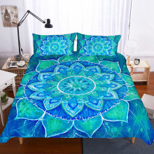 Fanaijia 3d Mandala bedding set queen size boho Duvet Cover Bohemian Bed Set Bedclothes full size bed set(China)