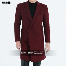 new arrival male French fron winter fashion high quality large blazer wool Overcoat plus size S M L XL 2XL3XL4XL5XL cj1036(China)