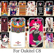 TAOYUNXI For Oukitel C8 Case Silicone Fitted Coque Oukitel C8 4G Cover Painting Patterned Anime Girls Funda Housing Bag 5.5 Inch(China)