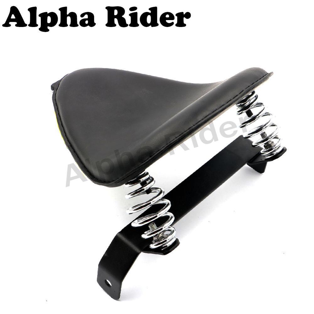 Retro Style Leather Front Solo Slim Seat Pad w/ Bow Bracket Springs Kit for Harley Honda Sportster Bobber Chopper Cruiser Custom<br><br>Aliexpress