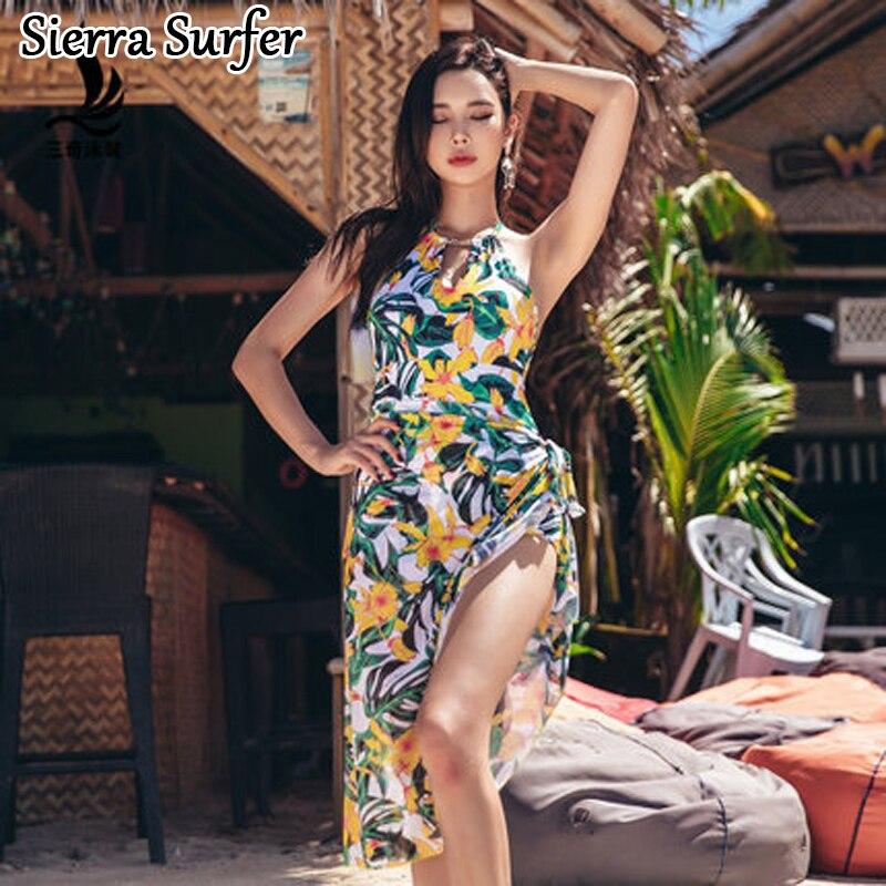 Womens Sport Suits One Piece Swimming Suit Female Swimwear Women Plus Size Ladys Swimsuit Rashgard Bikini 2018 Skirt Cover<br>