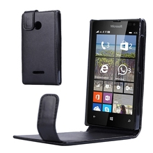 Big Discount Vertical Flip Leather Plastic Case for Microsoft Lumia 435 Phone Cover