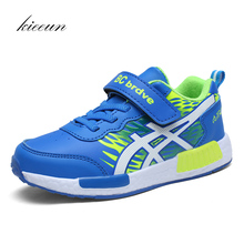 Kieeun Brand Sneakers New Boys Outdoor Sports Shoes Trainers Kids Athletic Sneakers Children Breathable Jogging Shoes Size 28-36(China)
