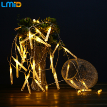 4M 40LEDs Icicle LED Battery String AA Battery Operated Fairy Christmas Lights For Party Home Holiday Outdoor Decoration Lamps