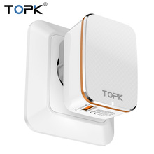 TOPK Quick Charge 2.0 EU&US 2-IN-1 Fast Travel USB Charger Adapter Auto-ID Mobile Phone Charger for iPhone Samsung Xiaomi Huawei(China)