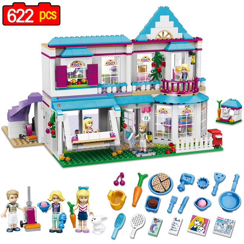 622 pcs Friends Girl Series Building Blocks Toy Stephanies House Kids Bricks Toy Girl Compatible LegoINGLYS Chilldren Best Gift<br>