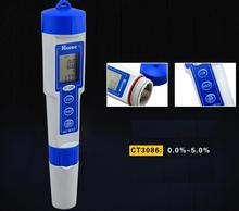 Free shipping Digital Salinity Tester/Meter for Salt Water Pool & Fish/Koi Pond Testing 0~5%