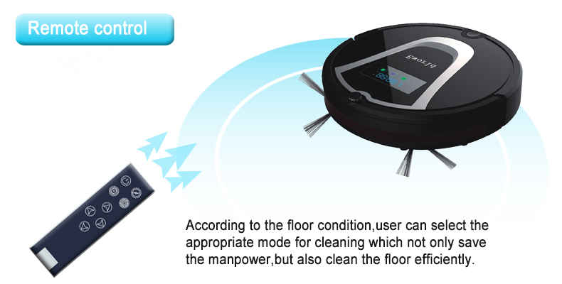 Eworld M884 Robot Cleaner Intelligent Robot Vacuum Cleaner Self-Charging& Side Brush Home,Remote Control, Aspirator