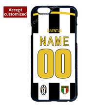 Juventus Jersey Custom Your Name Number Cover Case for iPhone 4 4S 5 5S SE 5C 6 6S 7 Plus