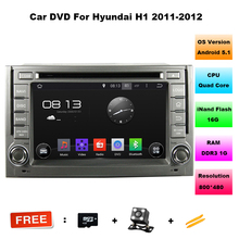 "Quad core Android 5.1 HD 2 din 6.2"" Car DVD GPS for HYUNDAI H1 2011-2012 With 3G/WIFI PC Bluetooth IPOD Radio TV USB AUX IN DVR(China)"