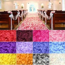 100PCS rose petals wedding decoration silk festival party table table confetti decoration(China)