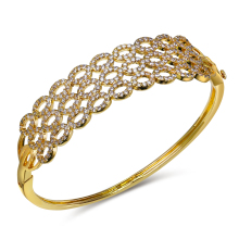 The best jewellery supplier Fast shipment and delicate quality Oval shape circle 3 layers Cc bangles for women(China)