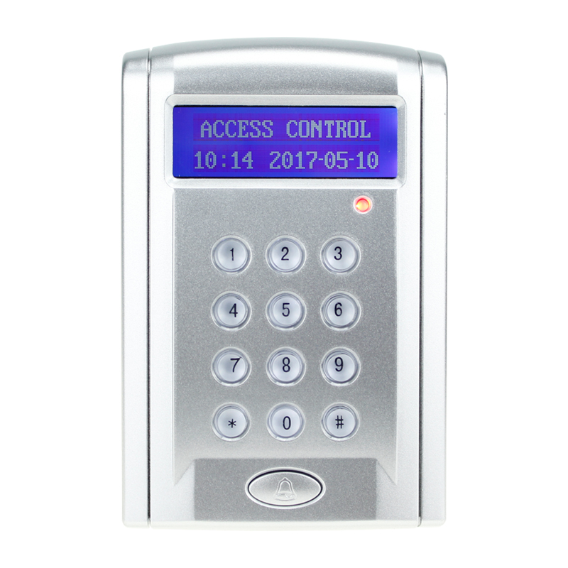 RFID Attendance RS485 Keypad 2500 Users Single Door Entry Access Control Standalone 125KHz/13.56MHz Reader With LCD Display<br>