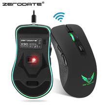 ZERODATE X90 USB 2.4GHz Wireless Mouse Colorful Breathing Backlight 2400DPI Optical Computer Mouse Gamer For PC Laptop H1Z1(China)