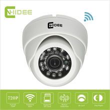CNHIDEE 720P HD P2P IP Cam Indoor Home micro Security Camera System Wireless Mini Ip Camera Dome Wifi Wi-fi Night Vision TF Card