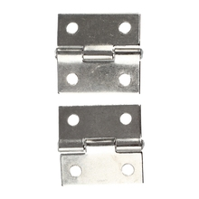"2 Pcs Gray Metal 1"" Small Butt Hinge for Cabinet Drawer"