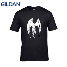 Tshirts Knitted The Mothman Hipster O-Neck authentic Grey tee shirt men's cloth cotton simple online t shirt business(China)