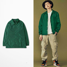 Ulzzang Jacket Beauty Pure Spring Retro Tide Loose Khaki Jacket Lover Jacket Hip Hop Off White Men Jacke Fashion Out Wear