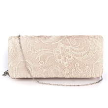 Bridal Wedding Satin Evening Bags Lace Floral Day Pouch Clutches Women Messenger Shoulder Bag Purse Party Girl Women Handbags