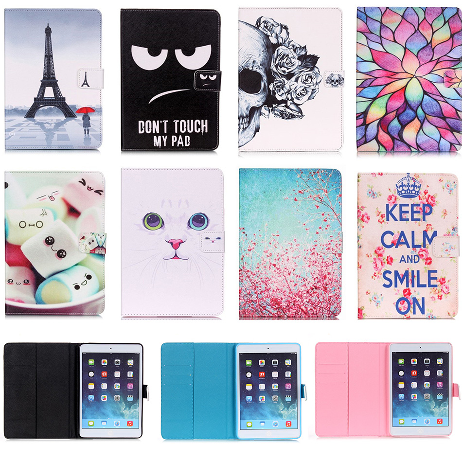 Fashion PU Leather Flip Case Apple iPad mini 1 2 3 Original Smart Tablet Stand Cover Card Slot iPad mini2 mini3 B33