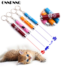 OnnPnnQ Funny Pet Cat Toys LED Laser Pointer light Pen With Bright Animation Mouse Shadow Interactive Holder For Cats Training(China)